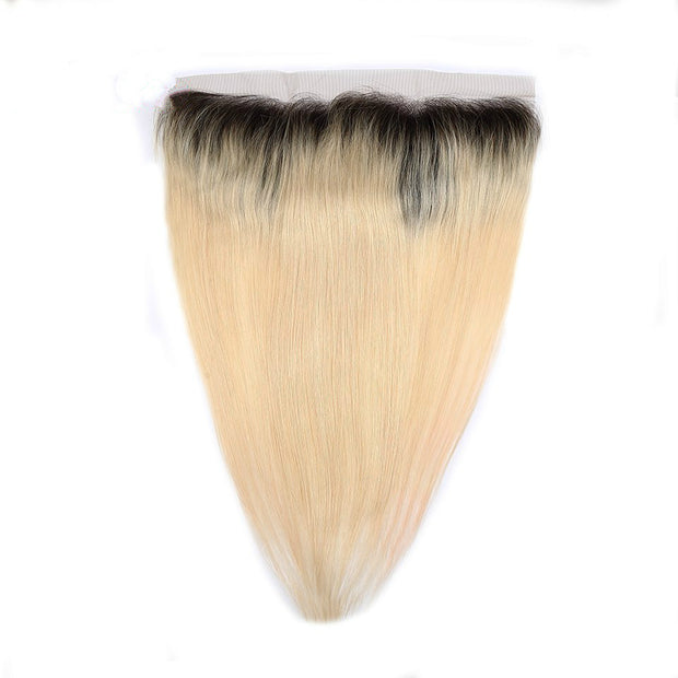 1B/613 Ombre Honey Blonde Straight Human Hair 13x4 Lace Frontal