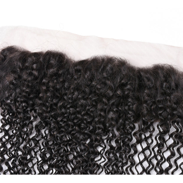 Ustar 100% Human Hair 4x13 Frontal Jerry Curl