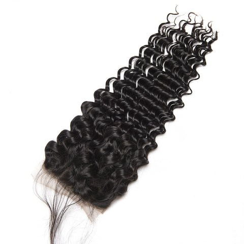 Ustar 100% Human Hair 4X4 CLOSURE Deep Wave