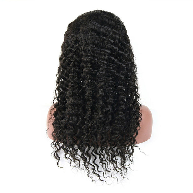 Usatr Full Lace Wig 150% Density Deep Wave Natural Black