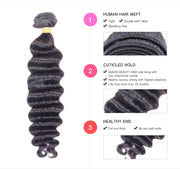 Ustar 7A Virgin Hair 3 Bundles Deep Wave