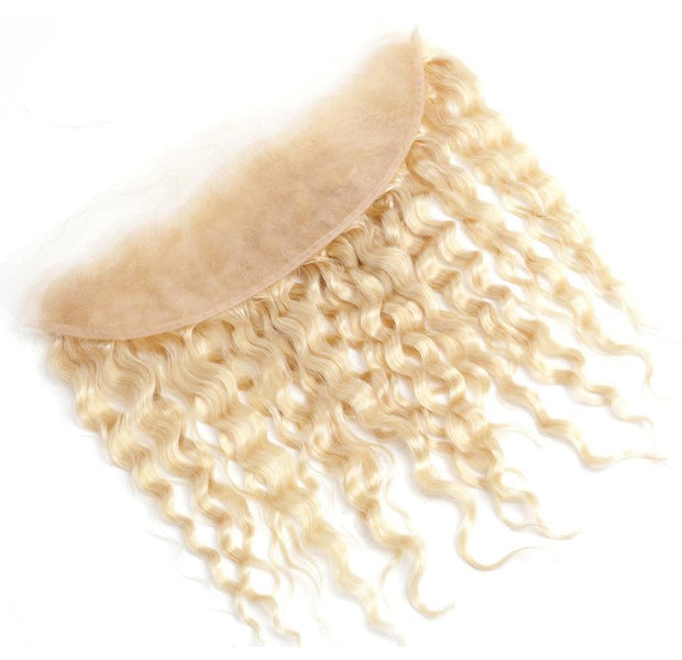 613 Honey Blonde Deep Wave Human Hair 13x4 Lace Frontal