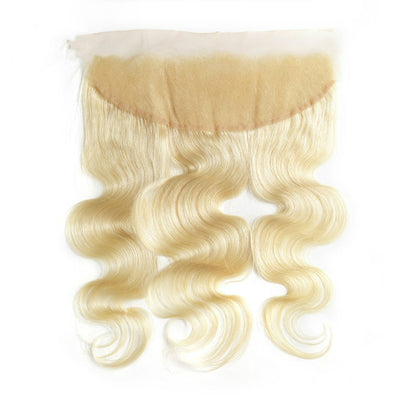 613 Honey Blonde Body Wave Human Hair 13x4 Lace Frontal Free Part