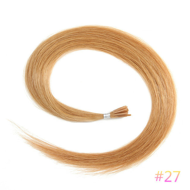 Ustar  100% Human Hair Quality I Tip Straight Hair Extensions #27