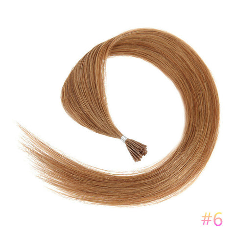 Ustar  100% Human Hair Quality I Tip Straight Hair Extensions #6