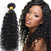 Ustar Affordable 100% Human Hair bundle Natural Black color Jerry Curly  One bundle Deal 10 in to 30 Inch