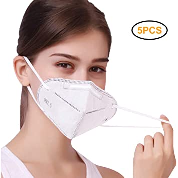 KN95 Respirator Mask, 5/10/15/20 PCS 5-Layer Air Filter Masks Against COVID-19, Dust, Pollution, Particle, Pollen, Smoke etc.