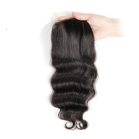 Ustar 100% Unprocessed Virgin Remy Human Hair 4X4 CLOSURE Free Part Loose Wave