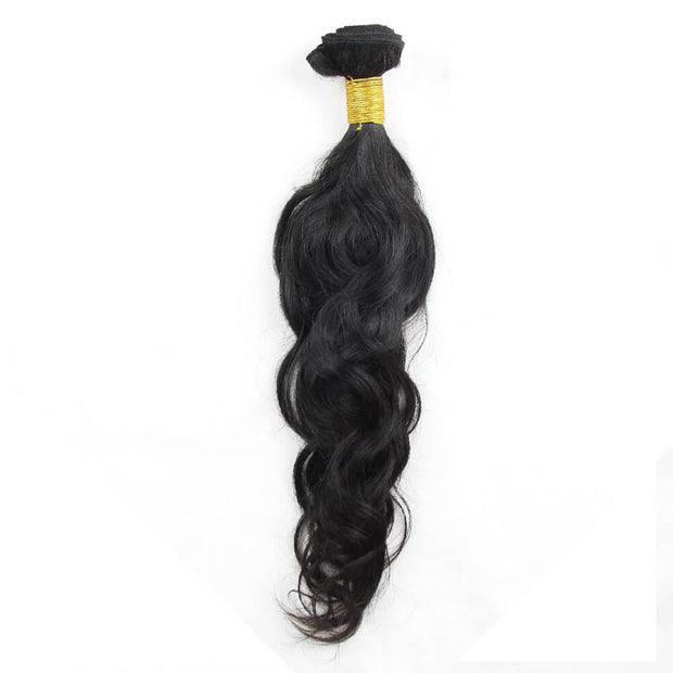 Ustar 100% Virgin Remy Hair Bundles Natural Black Natural Wave 8 inch to 30 inch