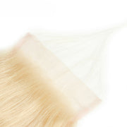 613 Honey Blonde Straight Human Hair 4x4 Lace Closure Free Part