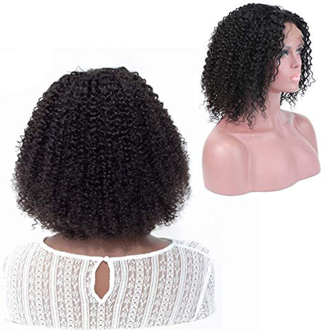 Ustar Short Bob Lace Frontal Wig Jerry Curly 150% Density 100 Virgin Human Hair