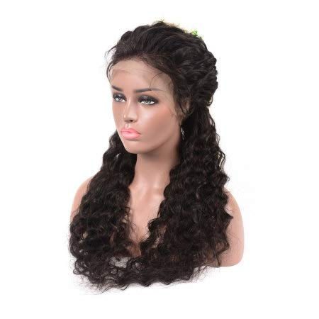 Ustar 360 Lace Frontal Wig 150% Density Deep Wave Virgin Remy Human Hair Natural Black