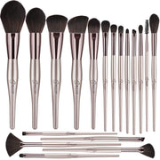 BESTOPE 18 Pcs Makeup Brushes Belly-type Handle Series Professional Premium Synthetic Contour Blush Foundation Concealers Highlighter Eye Shadows Cosmetic Brushes