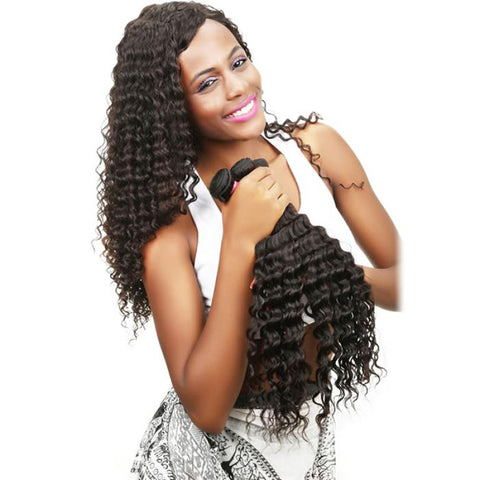 Ustar #1 Jet Black Deep Wave 100% human hair