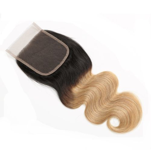 Ustar 4X4 Lace CLOSURE 1B/27 Body Wave 100% Human Hair