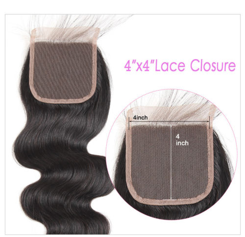 Ustar 100% Human Hair 4X4 CLOSURE Body Wave