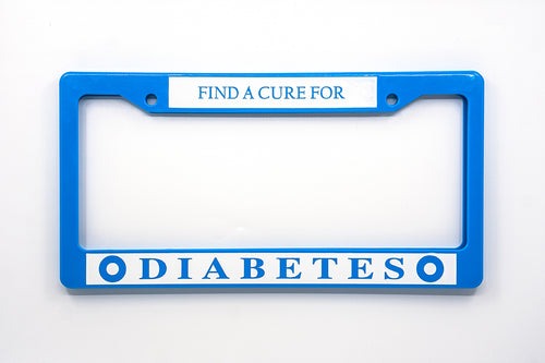 Find a Cure for Diabetes - License Plate Cover