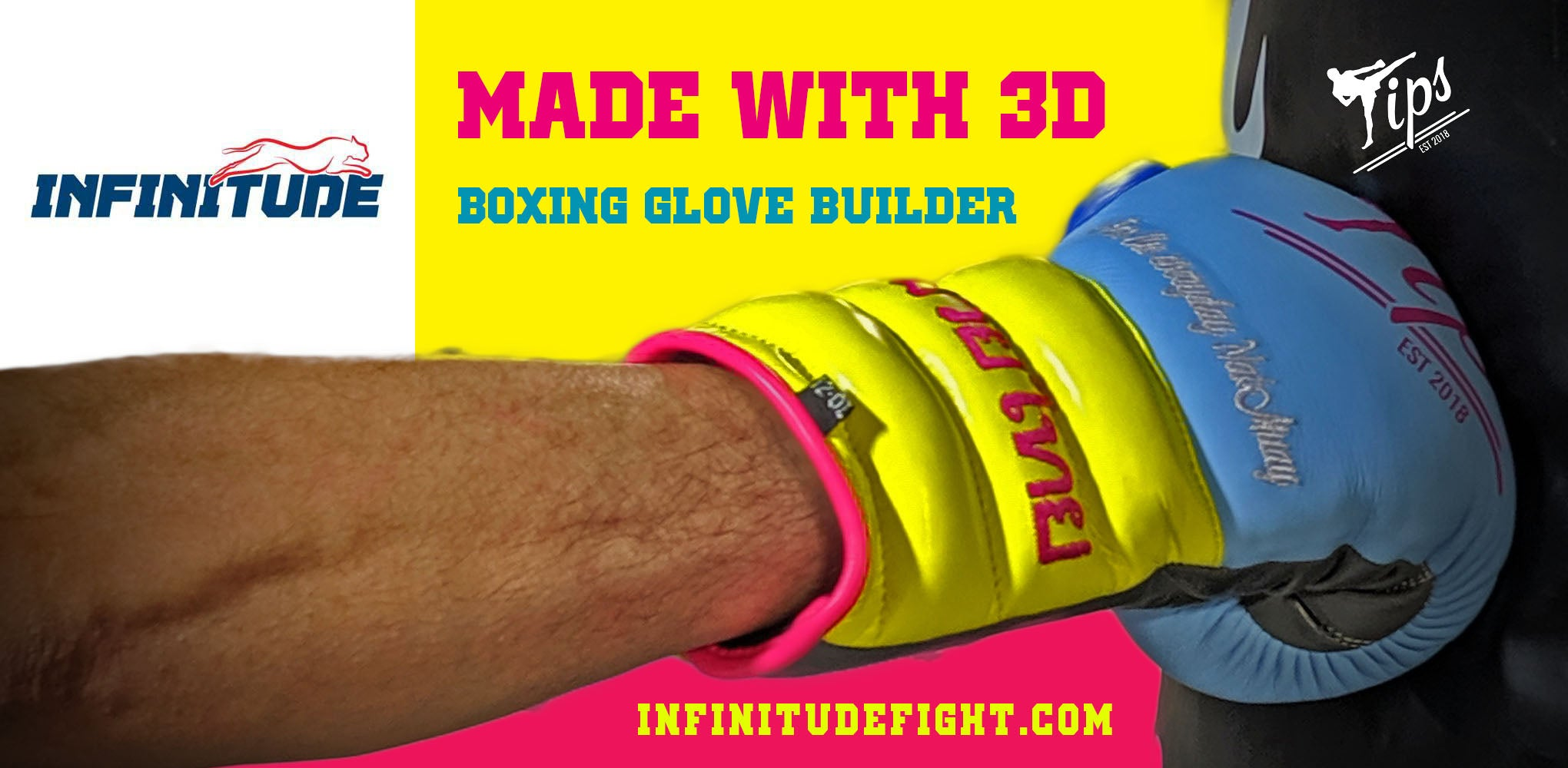 Premium Custom Muay Thai Tip Gloves with Infinitude Fight