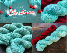 Blue Christmas on SILVER SPARKLE Sock