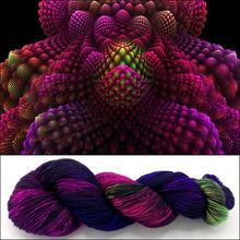 Fractals: BUTTERFLY EFFECT on 100% Superwash Merino Single Ply Sock High-Twist