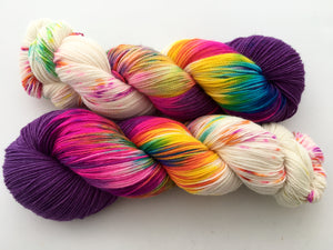Bustin' Outta Bushwick Purple on 80% Superwash Merino/20% Nylon 2-Ply Twist Sock