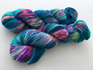 Hella Jella Fish on 80% Superwash BFL/20% Nylon 2-Ply Twist Sock