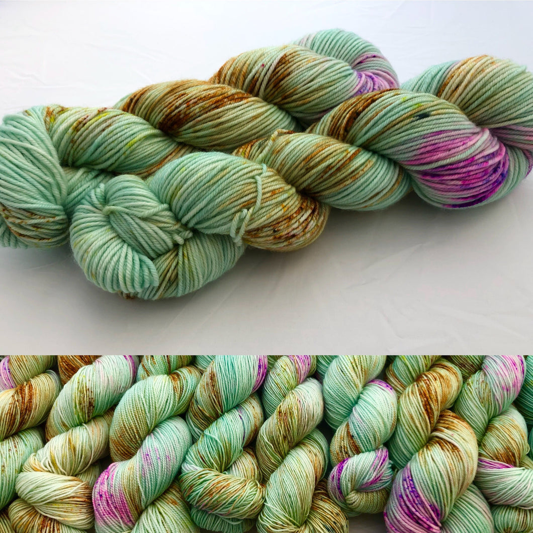 Sapuma on Superwash 75% Superwash Merino/25% Nylon Sock