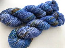 Eco Print #2 on 80% Superwash Merino/20% Silk 2-Ply Twist Silken Sock
