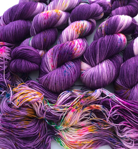Wonder Wheel on 80% Superwash Merino/20% Nylon 2-Ply Twist Sock