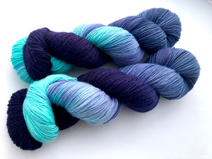 Reserved order for Mary Lou: Megxit! on Superwash 75% Superwash Merino/25% Nylon Sock