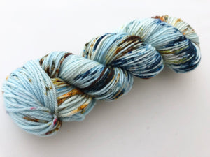 Eco Print #1 on 100% Superwash Merino Worsted
