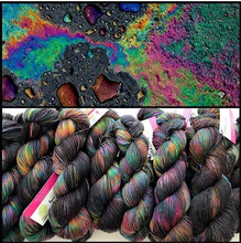 Oil Slick on Silk Kid Fluff Sock