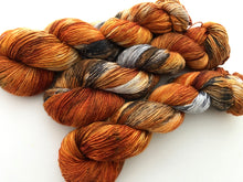 Birch Fire Deconstructed on 100% Superwash Merino Single Ply Sock High-Twist