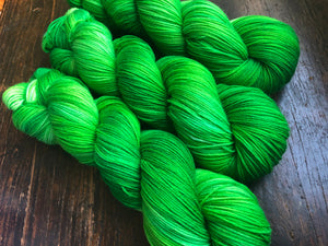 Reserved order for Susan- 50 Shades of Green on Superwash 75% Superwash Merino/25% Nylon Sock