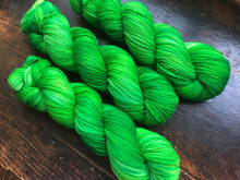 50 Shades of Green on Superwash 75% Superwash Merino/25% Nylon Sock
