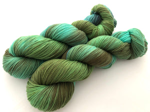Reserved Order for Danielle: Enchanted Forest on 100% Superwash Merino Sport