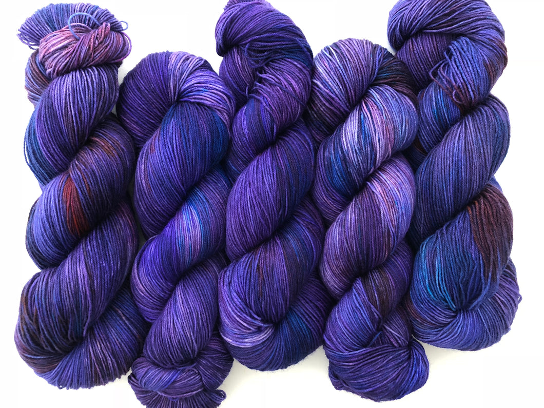 Nehi Grape Soda on Superwash 75% Superwash Merino/25% Nylon Sock
