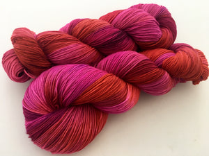 Fly Girl on Superwash 70% Merino/20% Silk/10% Cashmere Sock