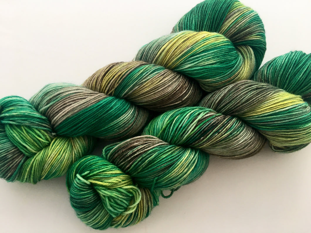 Shiz Nits  on Superwash 75% Superwash Merino/25% Nylon Sock