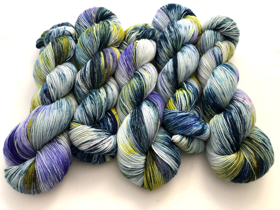 Rock Garden on Superwash 75 Merino/25 Nylon 2-Ply Twist Sock