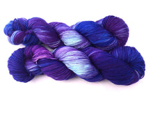 Purple Peacock on Superwash 75% Superwash BFL/25% Nylon Sock