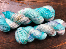 Skinny Dip on 80% Superwash Merino/20% Silk 2-Ply Twist Silken Sock