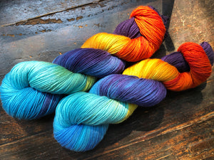 **BE THE CHANGE on 75% Superwash BFL/25% Nylon Sock