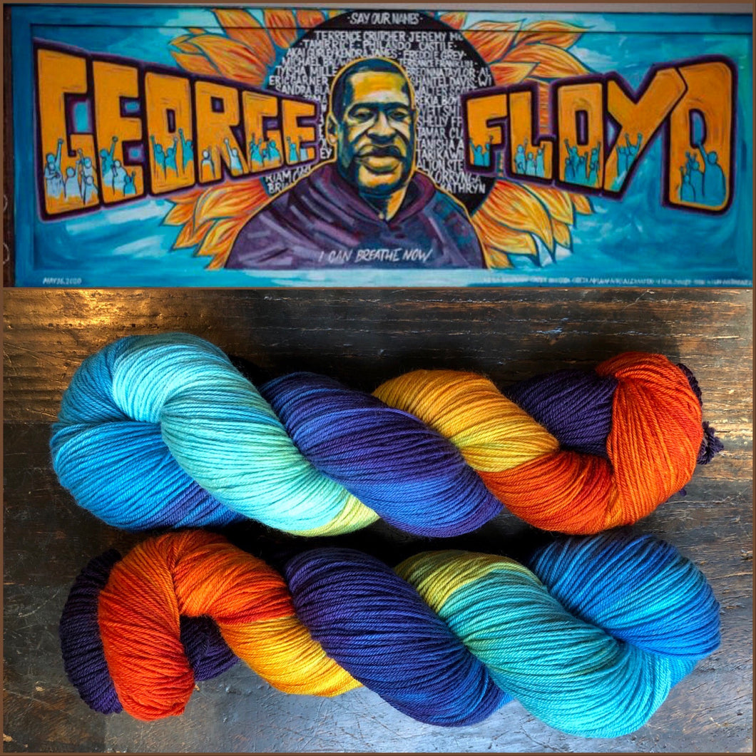 **BE THE CHANGE! on 100% Superwash Merino Single Ply Sock High-Twist