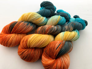 Reserved order for Melissa:  DISCOUNTED Blue Horizon on Superwash 75% Superwash Merino/25% Nylon Sock