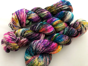Cyclone on 100% Superwash Merino Single Ply Sock High-Twist