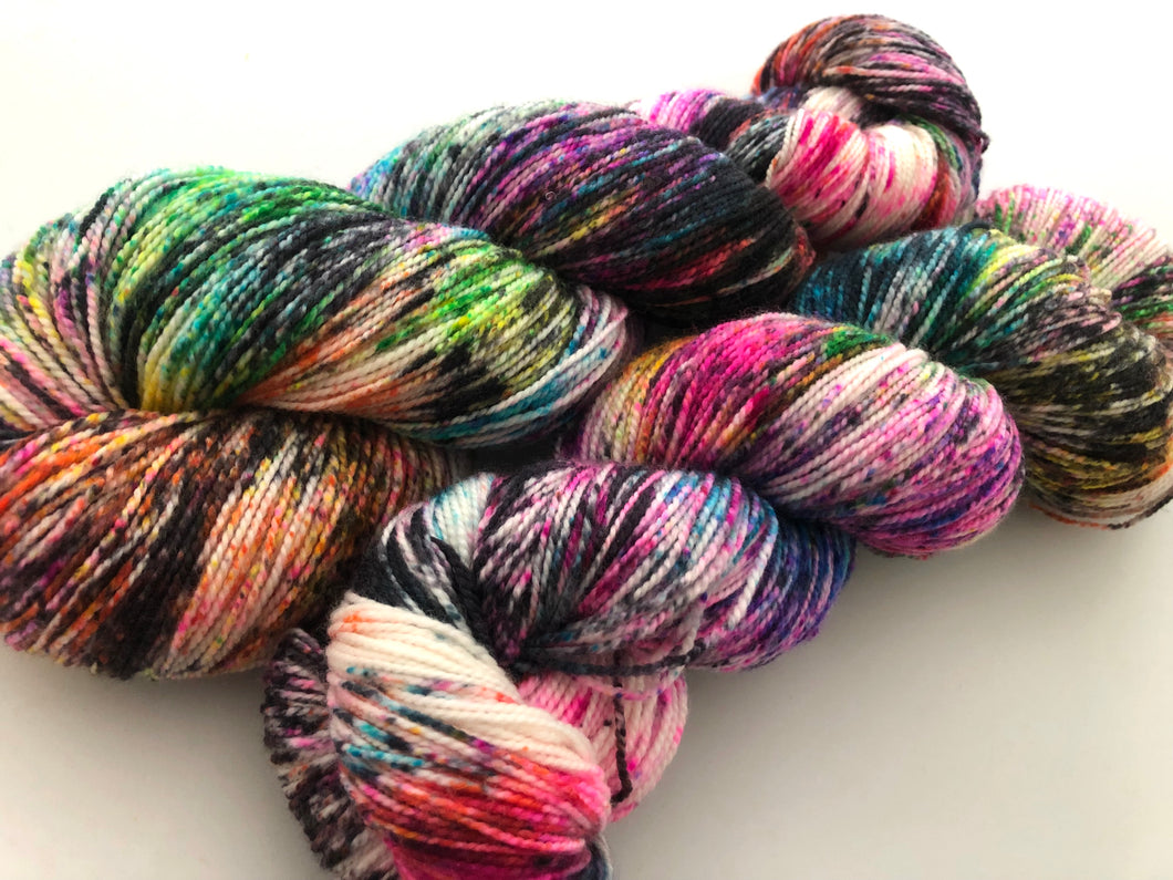 Cyclone* on 80% Superwash Merino/20% Nylon 2-Ply Twist Sock