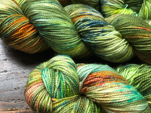 Lush on 80% Superwash Merino/20% Silk 2-Ply Twist Silken Sock