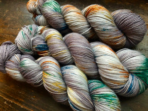 Weathered on Silver Sparkle Sock
