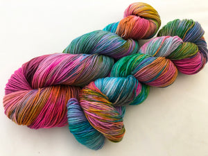 Zoltar on Superwash 75% Superwash Merino/25% Nylon Sock